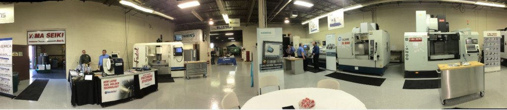Panorama Of Mega Cnc Showroom
